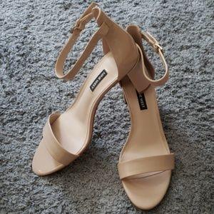 Light Beige Nine West Block Heeled Sandals